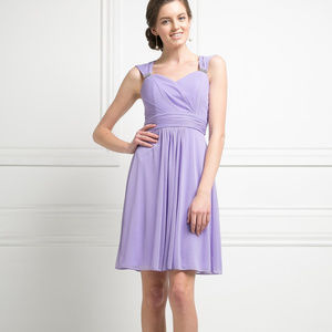 Sweetheart Neck Short Evening Dress CD3832